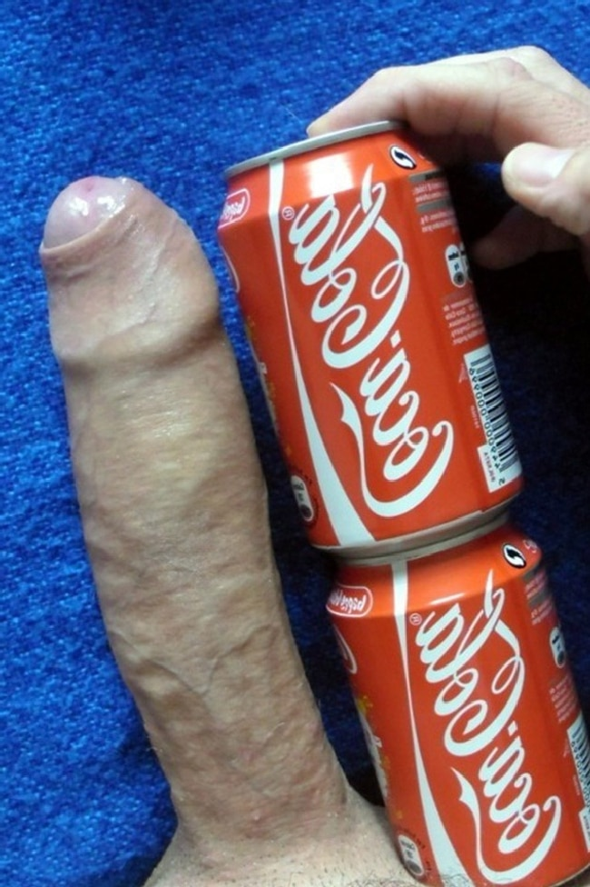 Cock VS Soda Cans