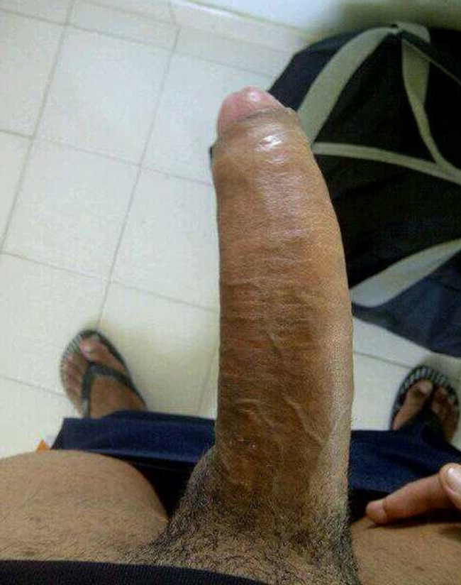 Hard Uncut Dick Close-Up