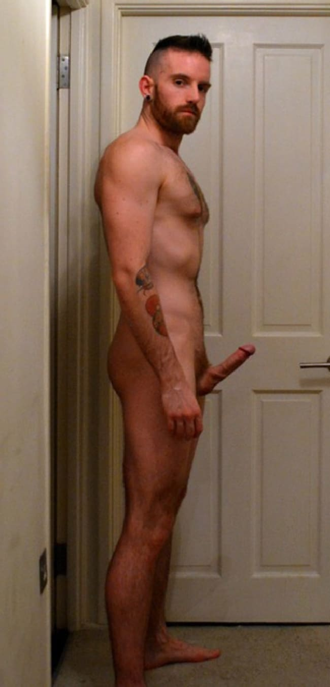 Nude Grindr Boys - Nude Man With Hard Cock Standing Tall